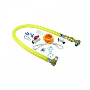 """T&S """"T&S HG-4D-48SK-FF 48"""""""" SwiveLink Gas Connector Kit w/ Quick Disconnect & Cable Kit - 3/4"""""""" NPT"""""""