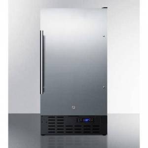 "Summit ""Summit FF1843BSSADA 17 3/4""""W Undercounter Refrigerator w/ (1) Section & (1) Solid Door - Stainless Steel, 115v"""