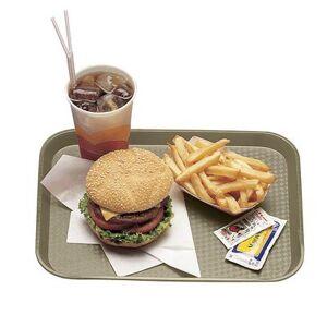 """Cambro """"Cambro 1216FF104 Plastic Fast Food Tray - 16 1/10"""""""" L x 11 4/5""""""""W, Desert Tan"""""""