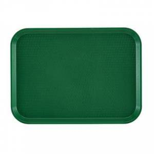 "Cambro ""Cambro 1216FF119 Plastic Fast Food Tray - 16 1/10"""" L x 11 4/5""""W, Sherwood Green"""