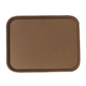 """Cambro """"Cambro 1418FF167 Plastic Fast Food Tray - 17 3/4""""""""L x 13 4/5""""""""W, Brown"""""""