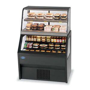 "Federal ""Federal CH3628SS/RSS3SC 36"""" Refrigerated Self-Serve Merchandiser w/ Hot Top, 2 Tier Shelves"""