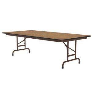 "Correll ""Correll CFA3060PX06 60"""" Rectangular Folding Table w/ Medium Oak Top, 32""""H"""