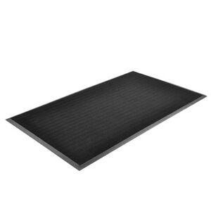 "NoTrax ""NoTrax T28U2432BL Finger Scrape Entrance Floor Mat, 24 x 32 in, 3/8"""" Thick, Black"""