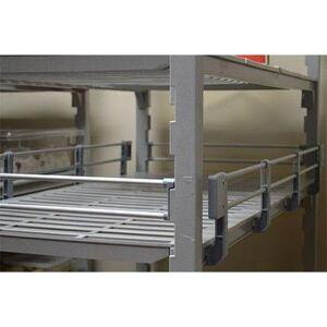 "Cambro ""Cambro CPR14603151 Camshelving? Premium 3/4 Shelf Rail Kit - 60""""L x 14""""W x 4 1/4""""H, Soft Gray"""