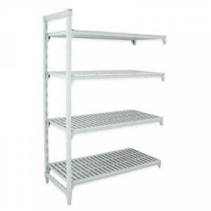 """Cambro """"Cambro CPA182484V4PKG Polymer Louvered Add-On Shelving Unit - 24""""""""L x 18""""""""W x 84""""""""H"""""""