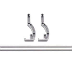 "Cambro ""Cambro CPR60S151 Camshelving? Premium Side Shelf Rail Kit - 60""""L x 4 1/4""""H, Soft Gray"""
