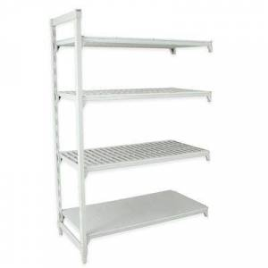 """Cambro """"Cambro CPA182484VS4PKG Polymer Louvered/Solid Add-On Shelving Unit - 24""""""""L x 18""""""""W x 84""""""""H"""""""