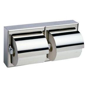 Bobrick B6999 Surface Mounted 2 Roll Toilet Tissue Dispenser w/ Hood, Polished