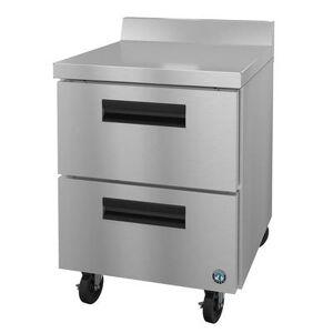 "Hoshizaki ""Hoshizaki WR27A-D2 SteelHeart 27"""" Worktop Refrigerator w/ (1) Section, 115v"""
