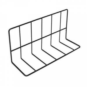 """Elite Global Solutions """"Elite Global Solutions W4612 Wire Shelving Divider - 12""""""""L x 4""""""""W x 6""""""""H, Black"""""""