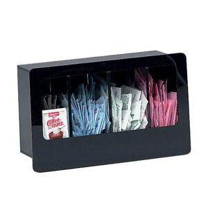 "Dispense-Rite ""Dispense-Rite FMC-4 Condiment Organizer w/ (4) Bins, 12"""" x 5 3/8"""" x 7 1/4"""", Black"""
