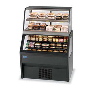 "Federal ""Federal CH3628/RSS3SC 36"""" Refrigerated Self-Serve Merchandiser w/ Hot Serve Top, Black"""