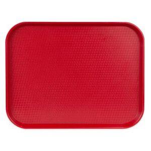 """Cambro """"Cambro 1418FF416 Plastic Fast Food Tray - 17 3/4""""""""L x 13 4/5""""""""W, Cranberry"""""""