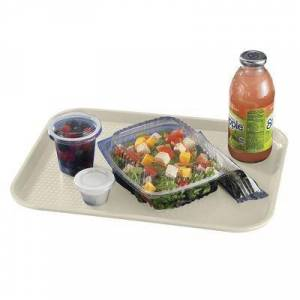 """Cambro """"Cambro 1216FF106 Plastic Fast Food Tray - 16 1/10"""""""" L x 11 4/5""""""""W, Light Peach"""""""
