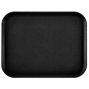 """Cambro """"Cambro 1418FF110 Plastic Fast Food Tray - 17 3/4""""""""L x 13 4/5""""""""W, Black"""""""