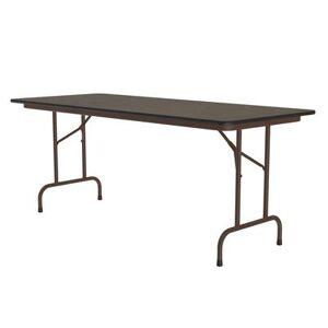 "Correll ""Correll CF3072PX 01 72"""" Rectangular Folding Table w/ Walnut Top, 29""""H"""