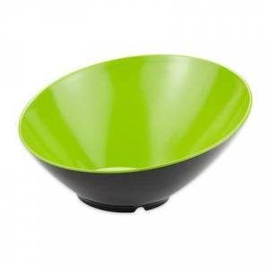 GET B-790-G/BK 1 9/10 qt Melamine Pasta Bowl, Green/Black