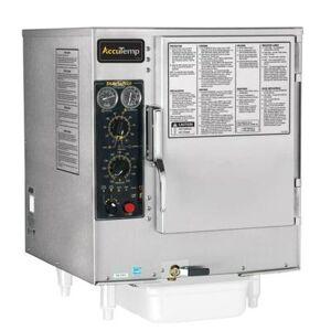 Accutemp S64803D140 (6) Pan Convection Steamer - Countertop, Holding Capability, 480v/3ph