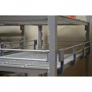 "Cambro ""Cambro CPR24603151 Camshelving? Premium 3/4 Shelf Rail Kit - 60""""L x 24""""W x 4 1/4""""H, Soft Gray"""