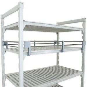 "Cambro ""Cambro CPR2460151 Camshelving? Premium Full Shelf Rail Kit - 60""""L x 24""""W x 4 1/4""""H, Soft Gray"""