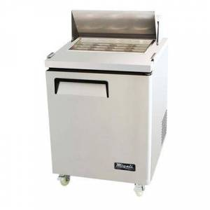 "Migali ""Migali C-SP27-12BT-HC 27 1/2"""" Sandwich/Salad Prep Table w/ Refrigerated Base, 115v"""