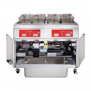 Vulcan 3ER50CF Electric Fryer - (3) 50 lb Vats, Floor Model, 208v/3ph