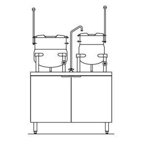 Crown Steam EMT-10-6 (1) 6 gal. & (1) 10 gal. Steam Kettles - Manual Tilt, 2/3 Jacket, 208v/3ph