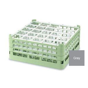 Vollrath 52738 6 Signature Glass Rack w/ (25) Compartments - Gray
