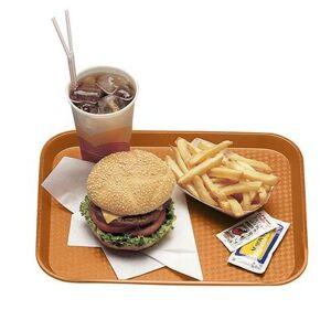 """Cambro """"Cambro 1216FF166 Plastic Fast Food Tray - 16 1/10"""""""" L x 11 4/5""""""""W, Orange"""""""