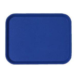 "Cambro ""Cambro 1418FF186 Plastic Fast Food Tray - 17 3/4""""L x 13 13/16""""W, Navy Blue"""