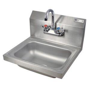 """John Boos """"John Boos PBHS-W-1410-P Wall Mount Commercial Hand Sink w/ 14""""""""L x 10""""""""W x 5""""""""D Bowl, Basket Drain"""""""