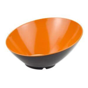 GET B-790-OR/BK 1 9/10 qt Melamine Pasta Bowl, Orange/Black