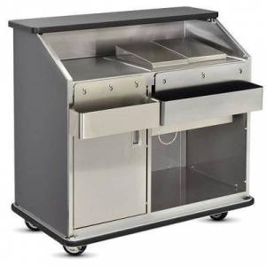 """FWE """"FWE CB-4 790960 Conventional Portable Bar, 48""""""""L, Stainless Int., Fusion Maple."""""""