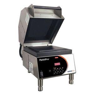 Nemco 6900-208-FF Single Commercial Panini Press w/ Aluminum Smooth Plates, 208v/1ph