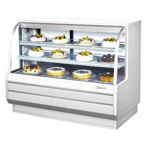"Turbo Air ""Turbo Air TCGB-60-W-N 60 1/2"""" Full Service Bakery Display Case w/ Curved Glass - (3) Levels, 115v"""