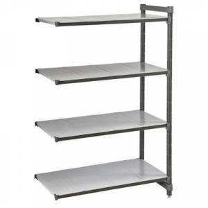 """Cambro """"Cambro CBA244272S4580 Polymer Solid Add-On Shelving Unit - 42""""""""L x 24""""""""W x 72""""""""H"""""""