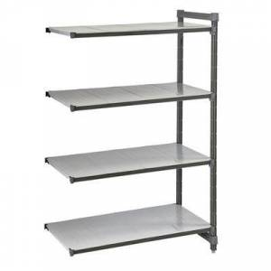 """Cambro """"Cambro EA243084S4580 Polymer Solid Add-On Shelving Unit - 30""""""""L x 24""""""""W x 84""""""""H"""""""