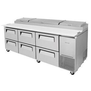 "Turbo Air ""Turbo Air TPR-93SD-D6-N 93"""" Pizza Prep Table w/ Refrigerated Base, 115v"""