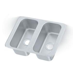 "Vollrath ""Vollrath 12065-2 (2) Compartment Drop in Sink - 6 1/8"""" x 12 1/8"""""""