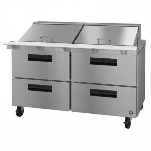"Hoshizaki ""Hoshizaki SR60A-24MD4 SteelHeart 60"""" Sandwich/Salad Prep Table w/ Refrigerated Base, 115v"""