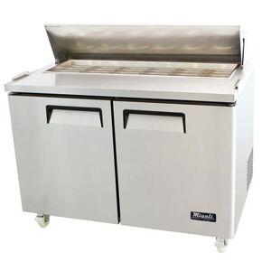 "Migali ""Migali C-SP48-18BT-HC 48 1/5"""" Sandwich/Salad Prep Table w/ Refrigerated Base, 115v"""