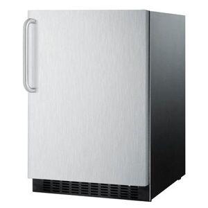 """Summit """"Summit FF64BXSSTB 23 5/8"""""""" W Undercounter Refrigerator w/ (1) Section & (1) Door, 115v"""""""