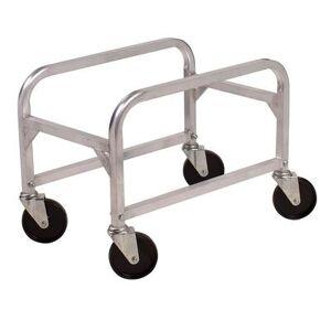 """Winco """"Winco ALBC-1 Lug Box Cart - 16 3/4""""""""W x 25""""""""D x 19""""""""H, Aluminum"""""""