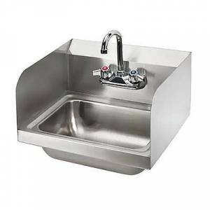 "Splash ""Splash HS-GF-SS-14-10-5 Wall Mount Commercial Hand Sink w/ 13 3/4""""L x 9 7/8""""W x 5 3/8""""D Bowl, Side Splashes"""