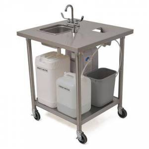 """Eagle Group PHSE-S-H 34 7/8""""""""H Portable Sink w/ 6""""""""D Bowl, Hot Water"""""""
