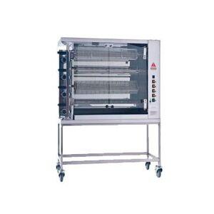 Rotisol USA FF1175-4G-SS Gas 4 Spit Commercial Rotisserie w/ 20 Bird Capacity, Liquid Propane