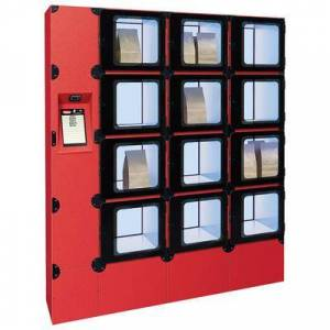 "Hatco ""Hatco F2G-34-C 12 Compartment Floor Model Heated Food Locker - 62 1/8""""W x 22 3/4""""D x 71 1/4""""H, 120v"""