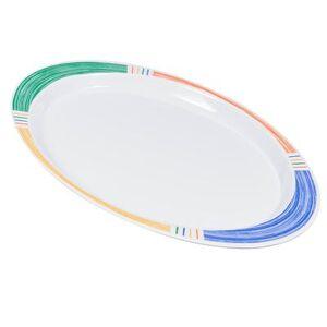 """GET """"GET OP-145-BA Melamine Serving Platter - 14 3/4"""""""" x 10 1/2"""""""", White"""""""