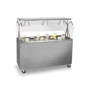 """Vollrath """"Vollrath 3872346 46"""""""" Mobile Food Bar w/ Cabinet & Stainless Top - Granite, 120v"""""""